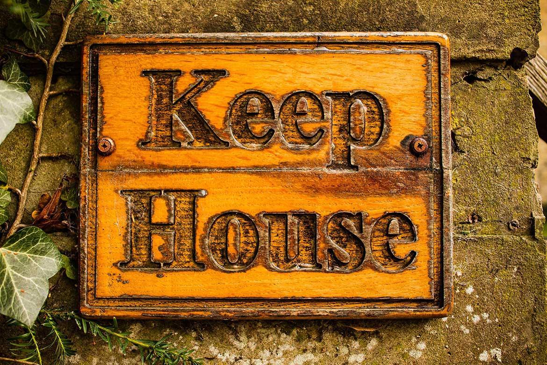 Keep House wall plaque